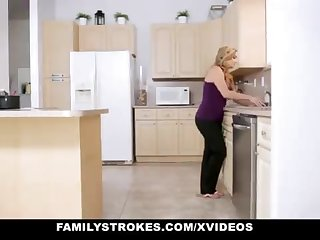 FamilyStrokes - Warm Step-Sister And Progenitrix Tricked And Romped Wide of StepBro