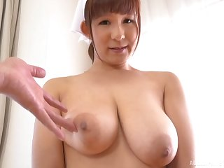 Lord it over Sakurano Yuina shows off her pair and sucks her man dry
